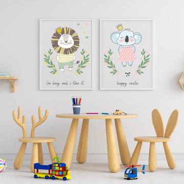 Set 2 tablouri - Leul&Coala