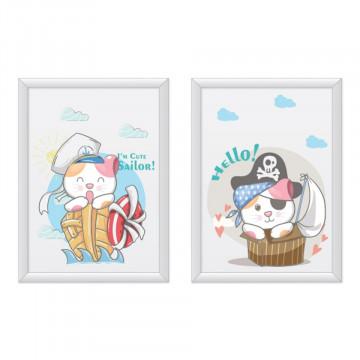 Set 2 tablouri - Pisicutele i'm cute sailor