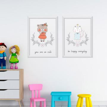 Set 2 tablouri - Ursuletul&Pisicuta