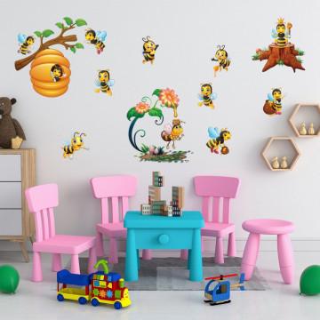 Set 21 stickere decorative perete copii - Albinutele, 60x90cm