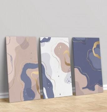 Set 3 Tablouri Canvas, Fluid colours