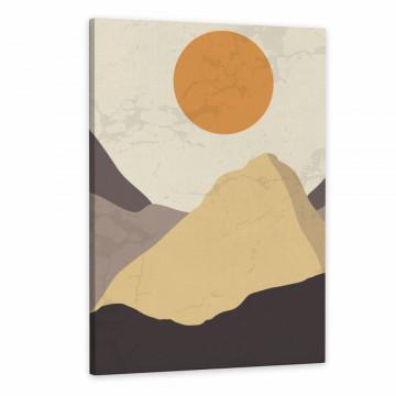 Set 3 Tablouri Canvas, Luna printre munti