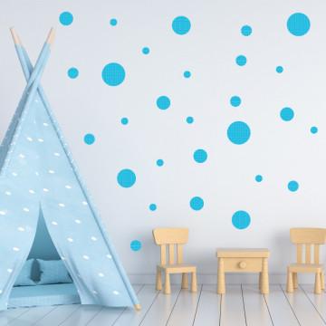 Set stickere decorative perete - Cercuri20, 60x60cm