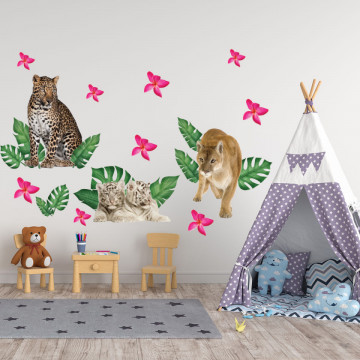 Set stickere decorative perete copii - Animalele Junglei8 , 60x90cm