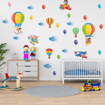 Set stickere decorative perete copii - Baloane, 60x90cm