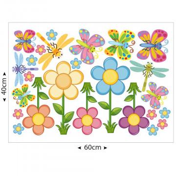 Set stickere decorative perete copii - Floricele & Fluturasi