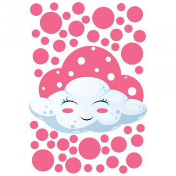 Set stickere decorative perete copii - Norisor roz