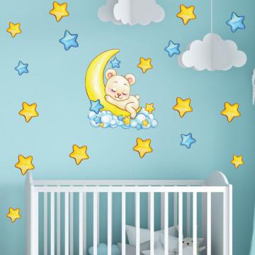 Set stickere decorative perete copii - Ursulet, 60x60cm