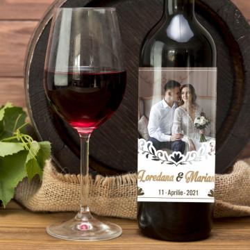 Sticla vin Personalizata - Poza, data si nume