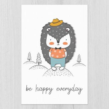 Tablou - Ariciul - Be happy everyday