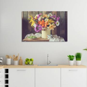 Tablou Canvas, Flori din gradina bunicii
