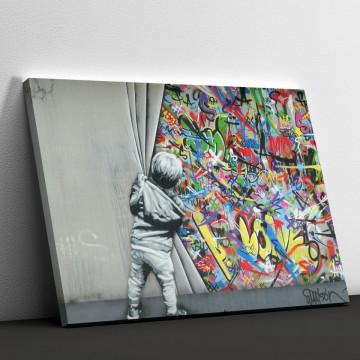 Tablou Canvas, Graffiti wall
