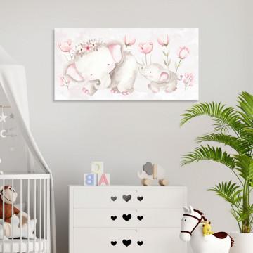 Tablou Canvas, Mama Elefant