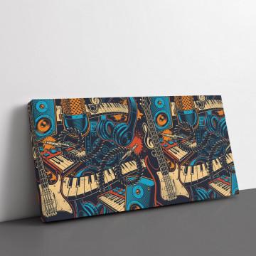 Tablou Canvas, Music art colour
