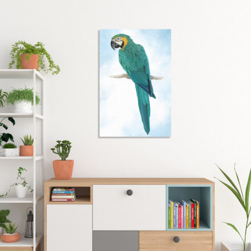 Tablou Canvas, Papagalul verde