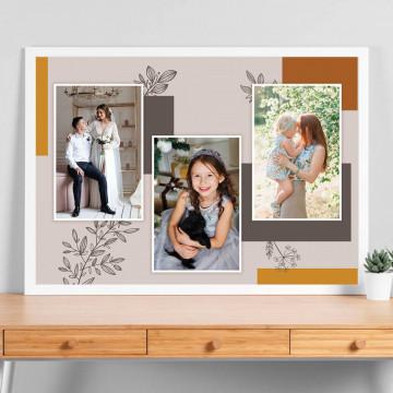 Tablou personalizat cu trei poze