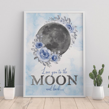 Tablou personalizat Harta Stelelor - Luna