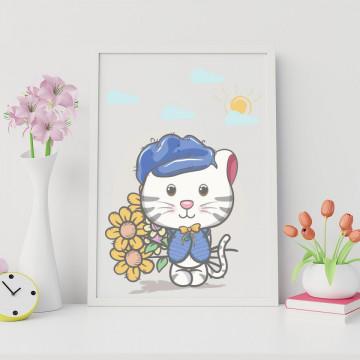 Tablou - Psicuta cu floricele