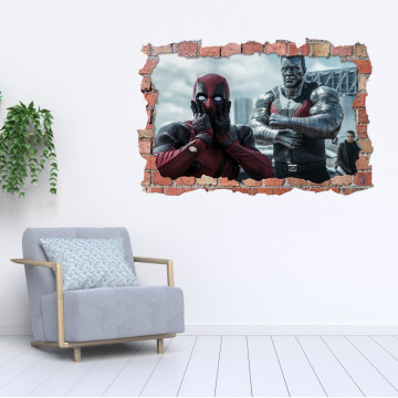 3D Sticker perete 60x90cm - Deadpool 2