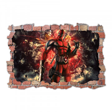 3D Sticker perete 60x90cm - Deadpool