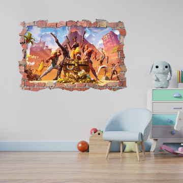 3D Sticker perete 60x90cm - Fortnite 8