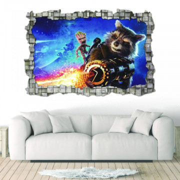 3D Sticker perete 60x90cm - Guardians of Galaxy