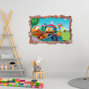 3D Sticker perete 60x90cm - Henry Dragomonstrul