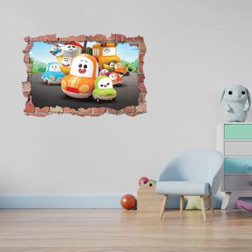 3D Sticker perete 60x90cm - Matei Masinescu