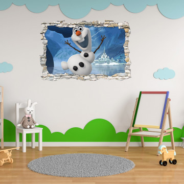 3D Sticker perete 60x90cm - Olaf