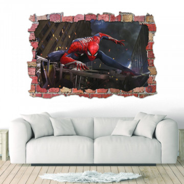 3D Sticker perete 60x90cm - Spiderman