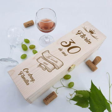 Cutie vin personalizata - Nume, varsta si doua mesaje