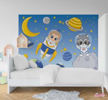 Fototapet autoadeziv copii - Cosmonautul
