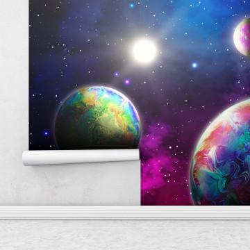 Fototapet autoadeziv - Planete in Univers