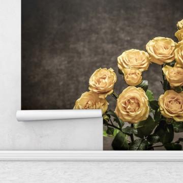 Fototapet autoadeziv - Trandafiri galbeni