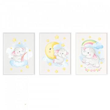 Set 3 tablouri - Elefantul2