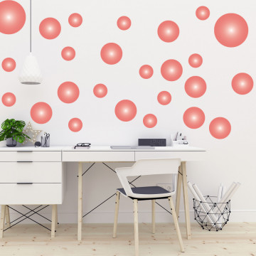 Set stickere decorative perete - Cercuri10, 60x60cm