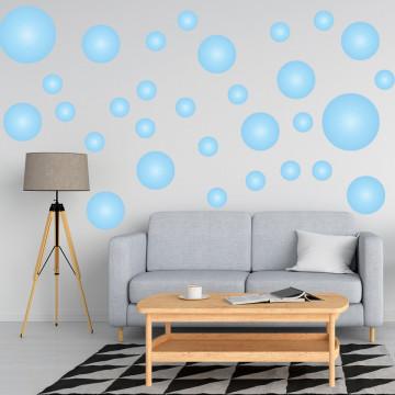 Set stickere decorative perete - Cercuri12, 60x60cm