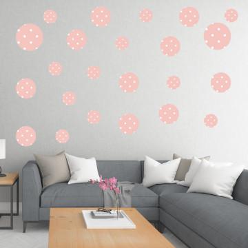 Set stickere decorative perete - Cercuri15, 60x60cm
