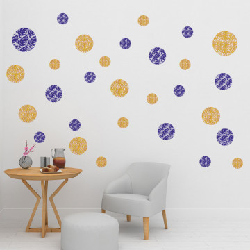 Set stickere decorative perete - Cercuri5, 60x60cm