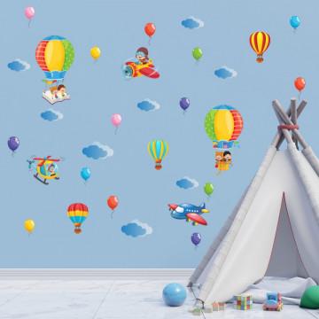 Set stickere decorative perete copii - Baloane11, 60x90cm