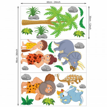 Set stickere decorative perete copii -Epoca Dinozaurilor4 , 60x90cm
