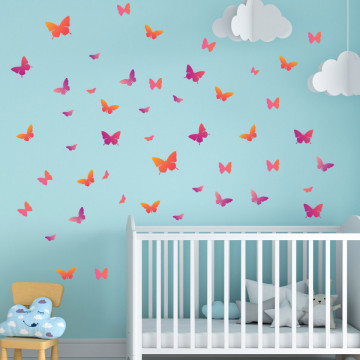 Set stickere decorative perete copii - Fluturasii , 60x60cm