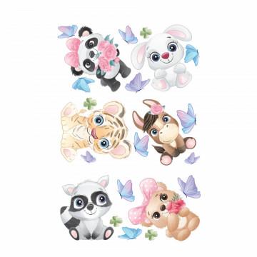 Set stickere decorative perete copii - Pui de animale1, 60x90cm
