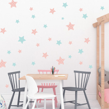 Set stickere decorative perete - Stelute 12, 60x60cm