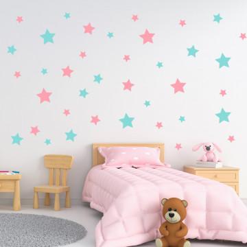 Set stickere decorative perete - Stelute 7, 60x60cm
