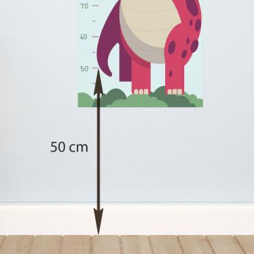 Sticker perete Masurator pentru copii - Dinozaurul, 40x120 cm
