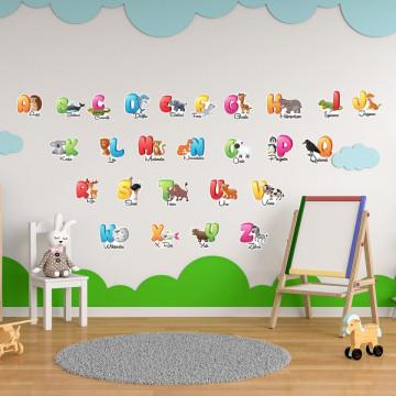 Stickere Educationale copii - Alfabet, set 60x90cm