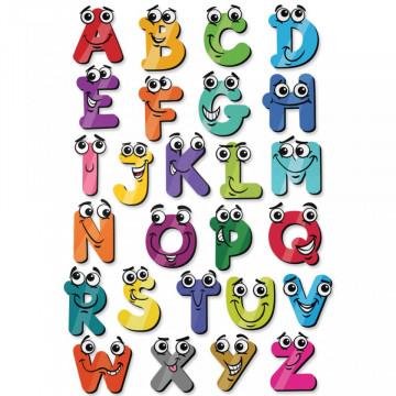 Stickere Educationale copii - Alfabetul cu ochi, set 40x60cm