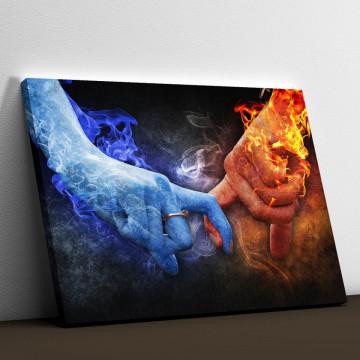 Tablou Canvas, Foc si gheata