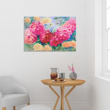 Tablou Canvas, Trandafiri roz & galbeni
